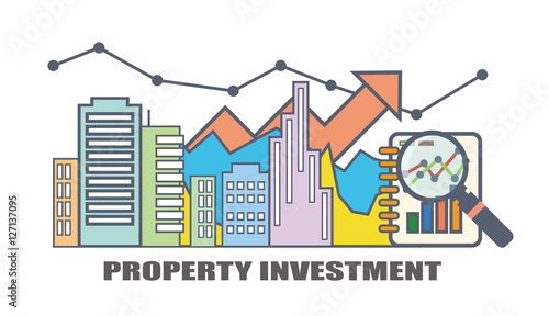 Flat Line Illustration Design For Property Investment Real Estate