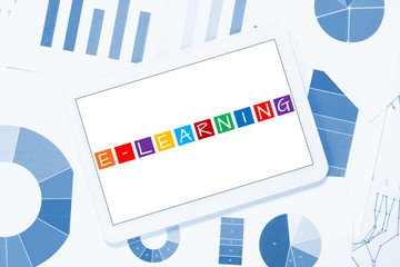 e-learning on tablet pc, concept