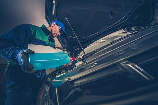 Refilling Car Washer Fluid