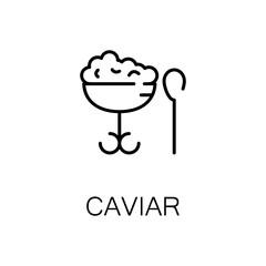Caviar flat icon or logo for web design.