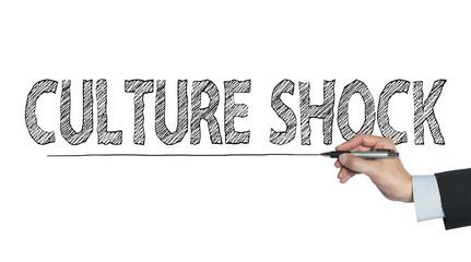 culture shock written by hand
