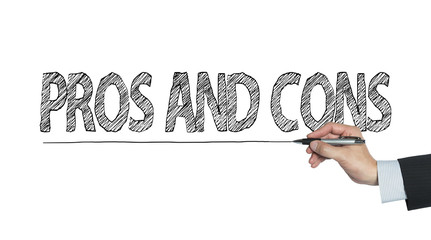 pros and cons written by hand