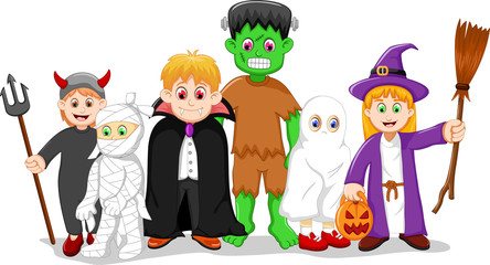 cartoon halloween set character