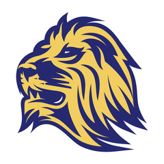 Fototapeta stylish emblem of lion head for the sports team