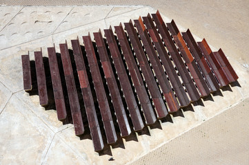 Looking down at rows of benches. For inspiration, design and cre