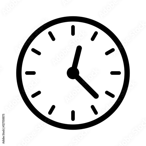 Line Drawing Clock Face : Quot clock face clockface or watch with hands line art