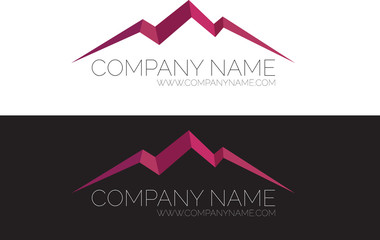 Real Estate Logo Template, Business, Mountains