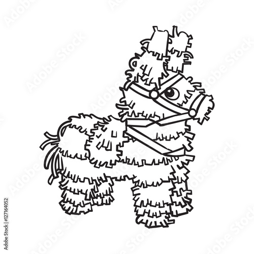 u0026quot traditional mexican brightly pinata  black and white