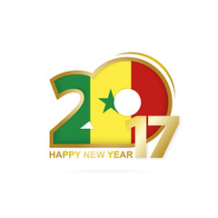 Year 2017 with Senegal Flag pattern.