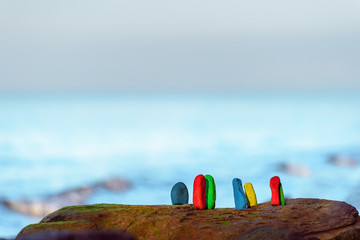 Colored sea stones