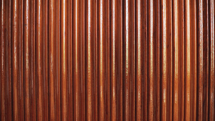 Wooden wall varnished by Lacquer