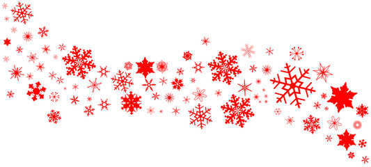 Red Christmas Snowflake  Banner