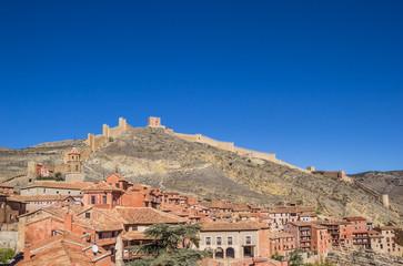 Albarracin city and the surrounding walls