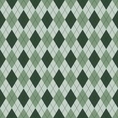 Seamless argyle pattern. Diamond shapes background. Vector illustration