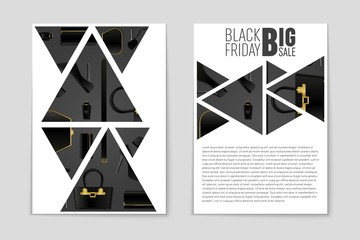 Abstract vector Black Friday layout background. For creative art design, list, page, mockup theme style, banner, concept idea, cover, sale booklet, print, deal flyer, blank, card, ad, sign, sheet
