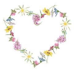 Floral heart, sketch for your design
