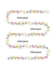 Floral frame, sketch for your design