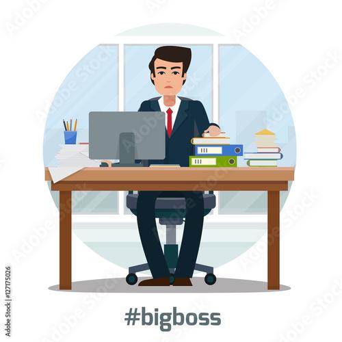 businessman in office fichier vectoriel libre de droits sur la banque d 39 images. Black Bedroom Furniture Sets. Home Design Ideas