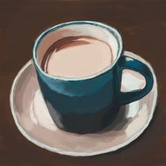 coffee cup, digital painting