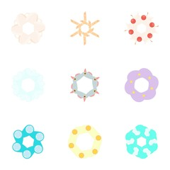 Kinds of flowers icons set. Cartoon illustration of 9 kinds of flowers vector icons for web