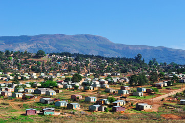 Sud Africa, 01/10/2009: vista di Sabie, una città forestale sulle rive del fiume Sabie nella vera provincia dello Mpumalanga