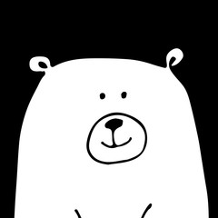 White bear, sketch for your design