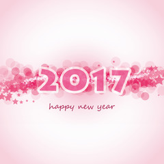 New Year Card, Cover or Background Template - 2017