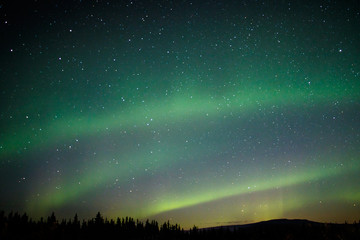 Aurora borealis at Alaska