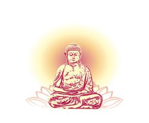 Hintergrund meditation buddha