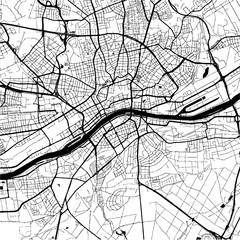 Frankfurt, Germany, Monochrome Map Artprint