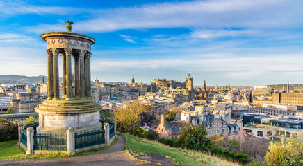 Early morning landscape image from Calton Hill in Edinburgh, Scotland