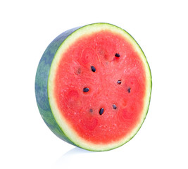 slice water melon on white background