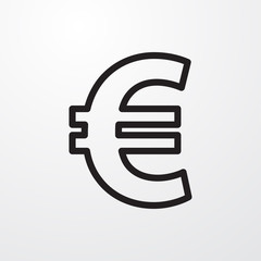 euro icon illustration