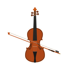 violin isolated white background