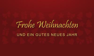 Weihnachtskarte - Rot