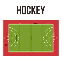 Hockey Court Arena Vector Design Illustration