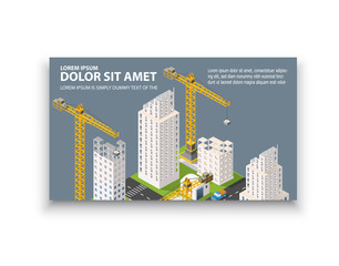 Business card template. For real estate agencies, construction companies and businesses, tourist and urban companies