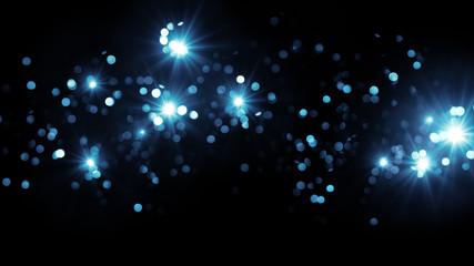 blue firework bursts blur background