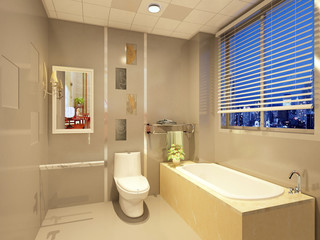 rendering of a Bathroom interior.