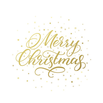 Merry Christmas calligraphic greeting card