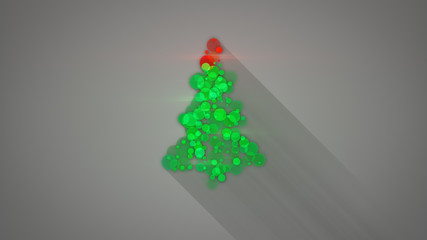 glowing christmas tree shape