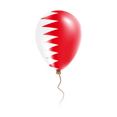Bahrain balloon with flag. Bright Air Ballon in the Country National Colors. Country Flag Rubber Balloon. Vector Illustration.