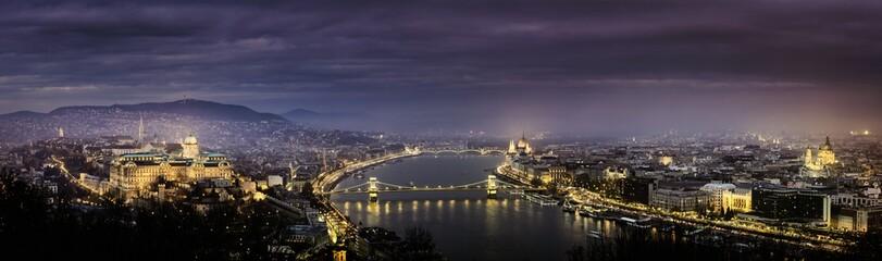 Aluminium Prints Budapest Panorama view of budapest