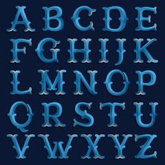 Retro marine font.