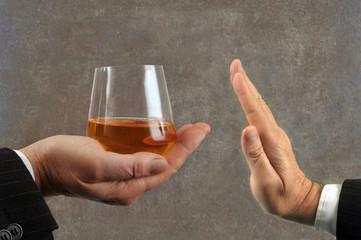 Refus d'un verre de whisky