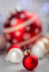 Festive Red Christmas Ball Decorations