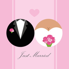 just married brautpaar