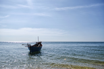Boat Floating on The Sea