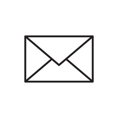 email message envelope icon outline vector