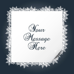 Christmas border background with snowflakes